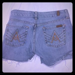 7 for All Mankind 26 Cut Off A Pocket Shorts